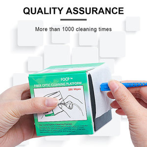 Image 2 - 280 יח\קופסא סיבי ניקוי כלי Dustfree נייר סיבים אופטי נמוך מוך מגבונים נמוך אבק ניגוב נייר, סיבי נקי נייר, FTTH כלים