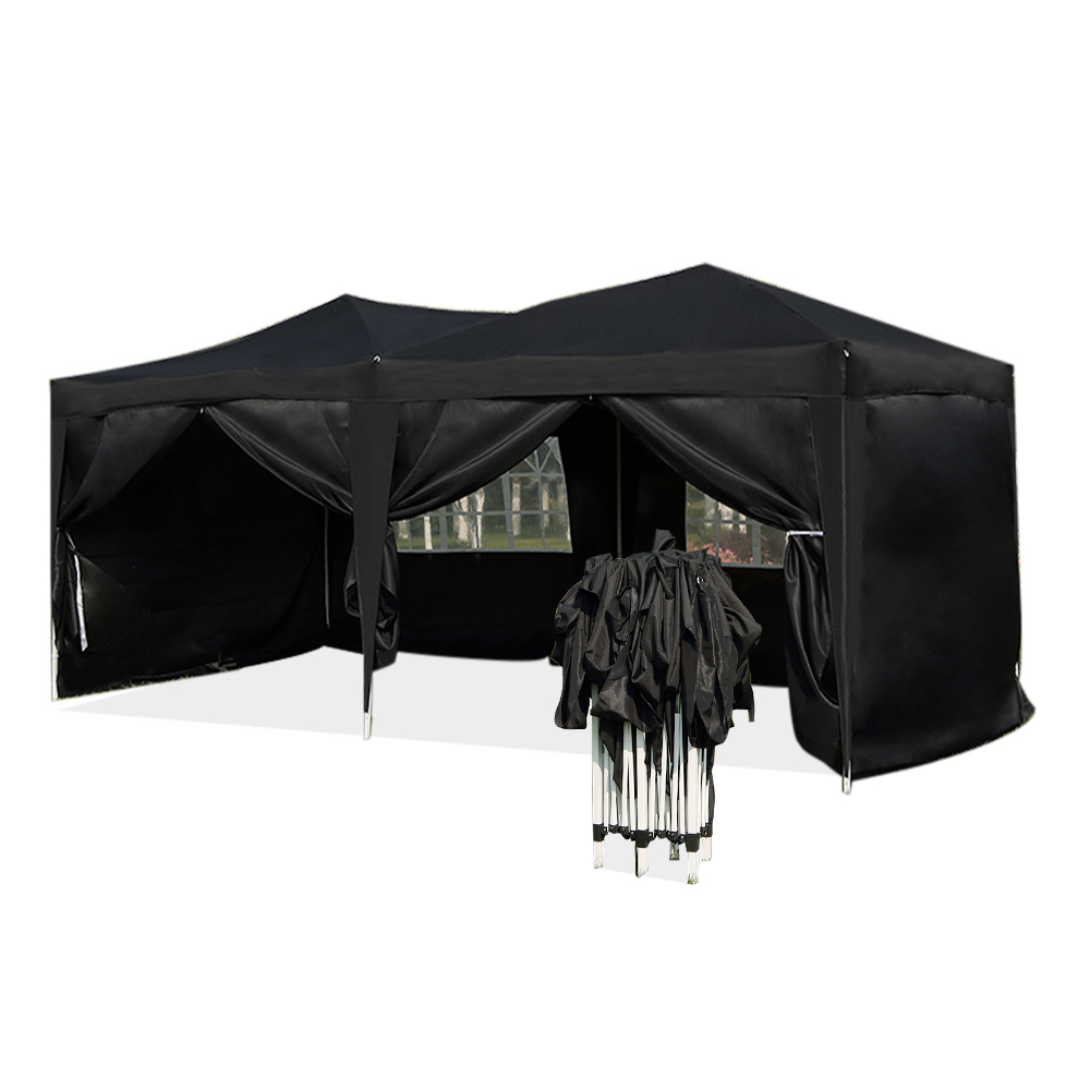 Presale 15% off Large 6x3m WATERPROOF Pop Up Garden Gazebo Arbor Party Tent with Sides Window Bag Country Fair All closed Tent