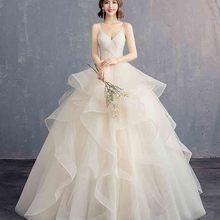 N Deluxe Шампанское V шеи вечернее Формальное платье женские свадебные вечерние красные ковры бальное платье для леди плюс размер 5xl 4xl