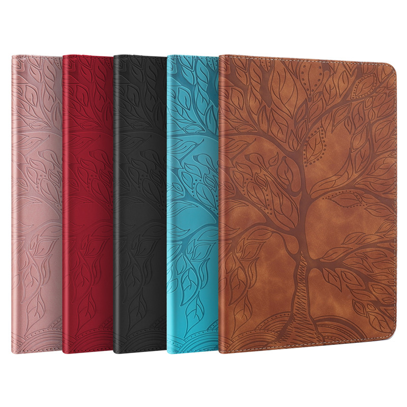 Pro 11 for Stand-Tablet iPad Funda Wallet Emboss-Tree Coque Flip-Case