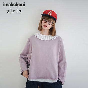 Imakokoni original design solid color wild Japanese curled bottoming shirt autumn and winter 2019 new 192765