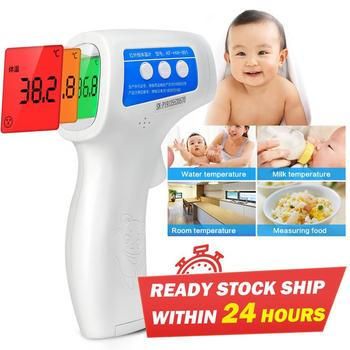 3 Color LCD Digital Thermometers Ear Forehead Thermometers for Kids Infrared Thermometers Temperature Meter Tools