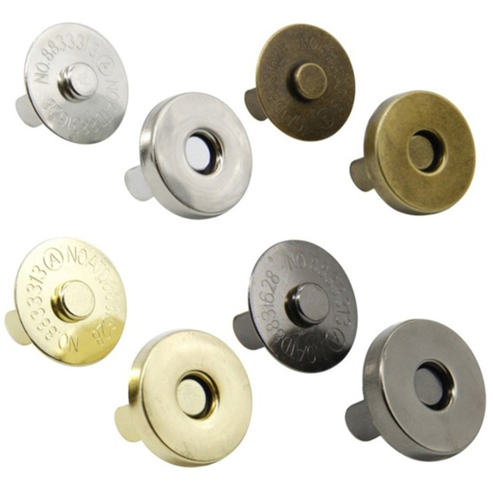 5set 18mm 4 Colors Pick Metal Strong Magnetic snap fasteners Clasps Buttons For Handbag purse wallet Bags Parts Accessories