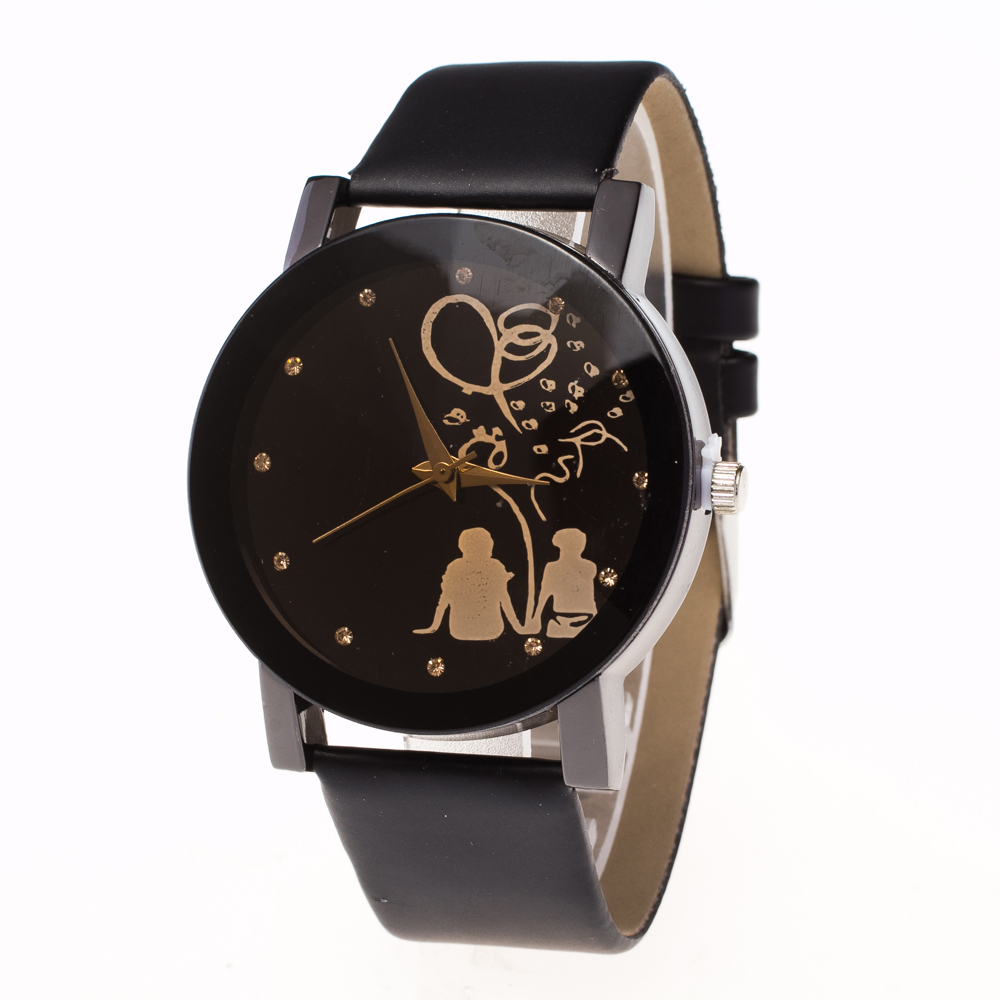 Fashion Women's Dress Couple Watch Lovers Watches Casual Leather Strap Quartz Watch Clock Gifts  Parejas Regalos