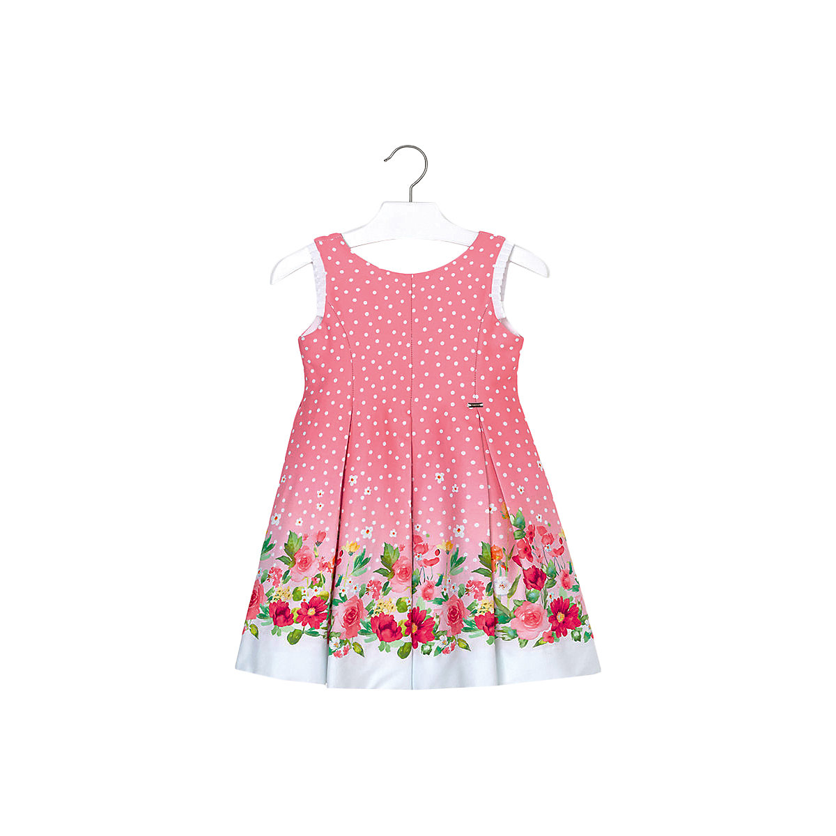 Фото - MAYORAL Dresses 10682326 Girl Children fitted pleated skirt Pink Cotton Casual Floral Knee-Length Sleeveless Sleeve new long communion dresses appliques crew neck sleeveless ball gown back v button flower girl dresses for wedding with bow sash