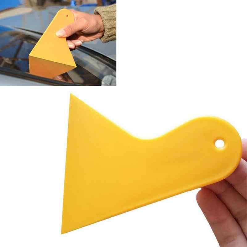 Nieuwe Duurzaam Kleine Schraper Auto Folie Tool Geel Driehoek Kleine Schraper Mobiele Telefoon Film Multifunctionele Gemaakte Auto Accessoires
