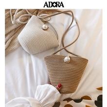 цены Braided Bucket Bag Single Satchel Bags for Women 2019 Shoulder Crossbody Bag  Womens Bags Handbags Women Famous Brands