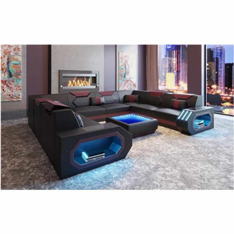Роскошный диван комплект 7 местный секционный диван u-образный регулируемый подголовник для дивана или телевизора