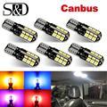 6 шт., белые светодиодные лампы Canbus T10 W5W WY5W 168 194