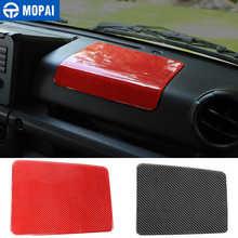 MOPAI fibre de carbone voiture copilote Center panneau de commande décoration autocollants pour Suzuki Jimny 2019 + accessoires intérieurs