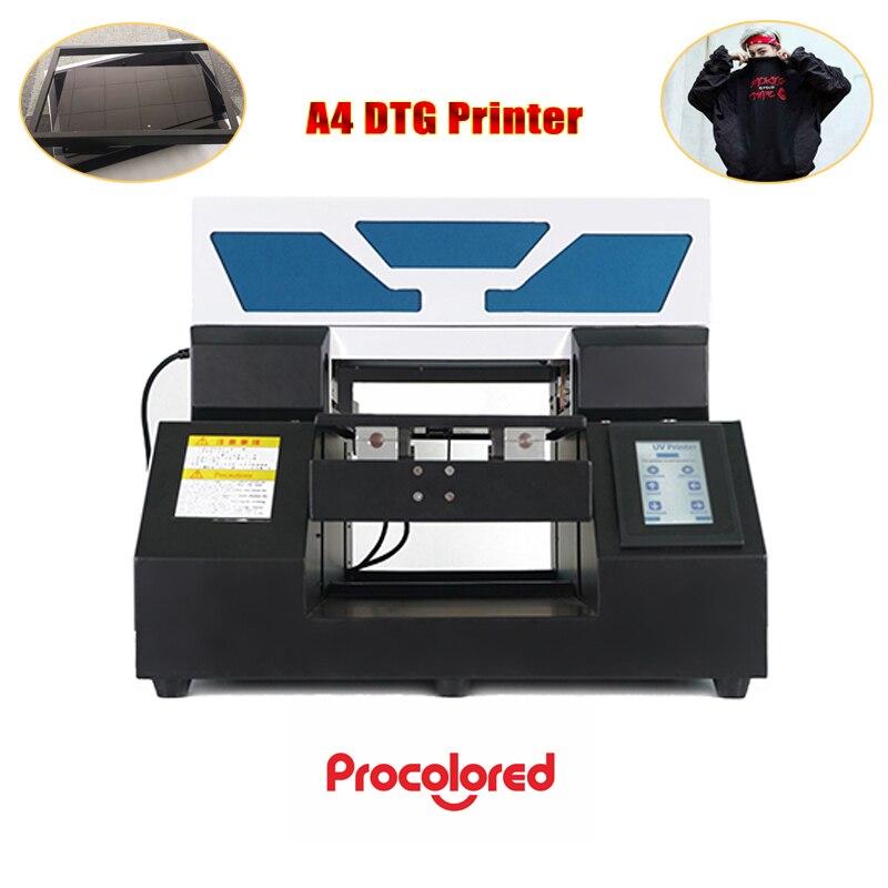 A4 mini DTG Drucker 6 farben nachfüllbar Tinte patronen für textil druck digitale inkjet t-shirt druck maschine