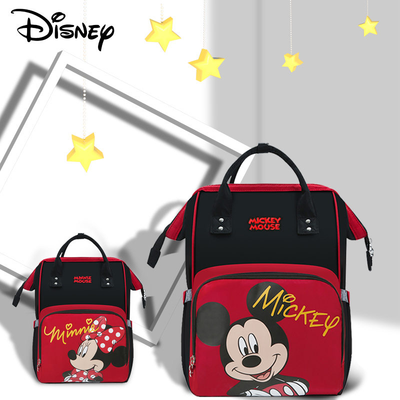 Disney Baby Diaper Bag USB Backpack Maternity Baby In Diaper Bag Large Capacity Mummy Diaper Bags  Mummy Bag Nappy Bag Mommy New