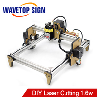 WaveTopSign Mini Laser Module 1.6W Blue Laser Engraving Machine DIY Engraver Desktop Wood Router Cutter Printer