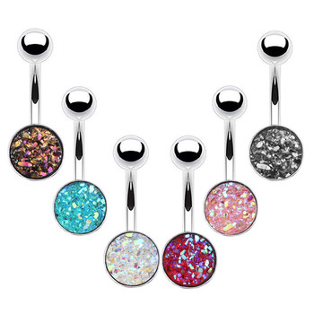 1PC Sexy Crystal Navel Piercing Fashion Surgical Steel Belly Button Rings Nombril Piercings Navel Earring Body Piercing Jewelry image