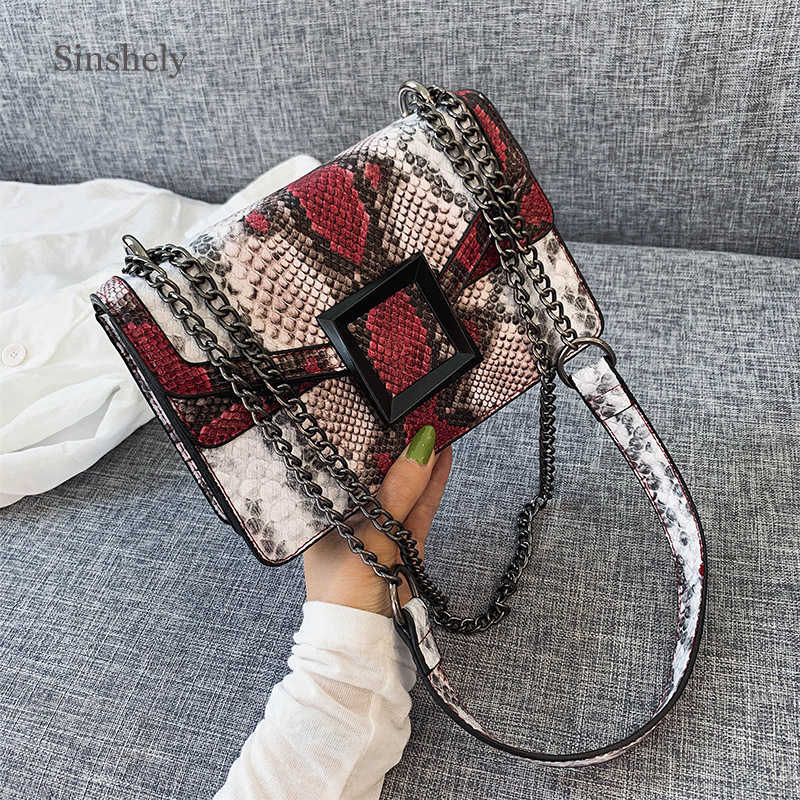 Luxury Brand Designer Serpentine Crossbody Bags For Women 2019 Small Shoulder Bag Ladies Cool Bags