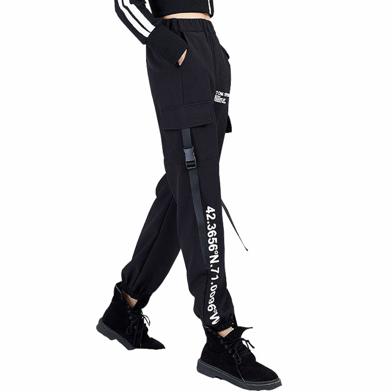 Women New Fashion High Waist Cargo Pants Plus Size Female Casual Ankle-length Korean Style Streetwear Trousers Loose Jogger Pant
