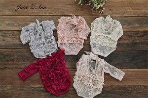 Jane Z Ann кружевное платье для маленьких девочек комбинезон и шляпа для фотографирования новорожденных реквизит 5 цветов Новое поступление