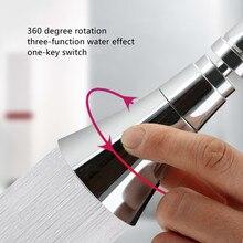 3 tryby kuchnia woda kran Aerator uniwersalny regulowany Splash Bubbler filtr oszczędzający wodę głowica prysznicowa dysza złącze kranu