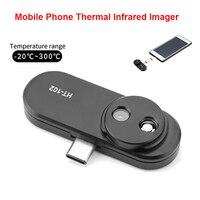 Telefone móvel infravermelho câmera infravermelha térmica externo termômetro android otg função adaptador HT 102 detecção térmica Instrumentos de temperatura     -
