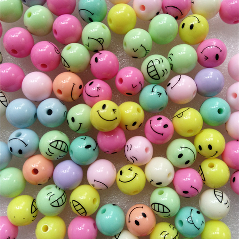 30pcs Emoticon Beads Smiling Face For Kids Children Girls Gifts Accessories Jewelry Crafts Bracelet Making 6 7 Years Diy Acrylic