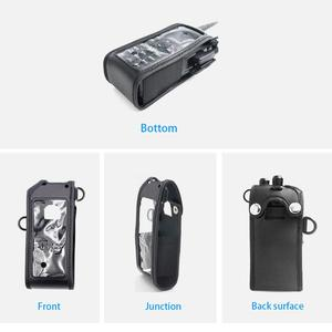 Image 2 - ANYTONE AT D878UV PLUS Soft Leather case Bags fit for ANYTONE AT D878UV AT D878UVPLUS walkie talkie