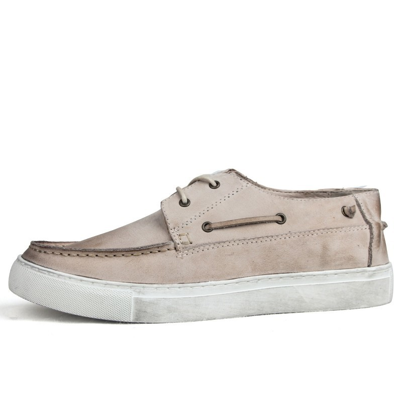 Mens Shoes Genuine Leather Vintage England Driving Boat Shoes Luxury Brand Designer Business Casual Shoes Leather White Sneakers