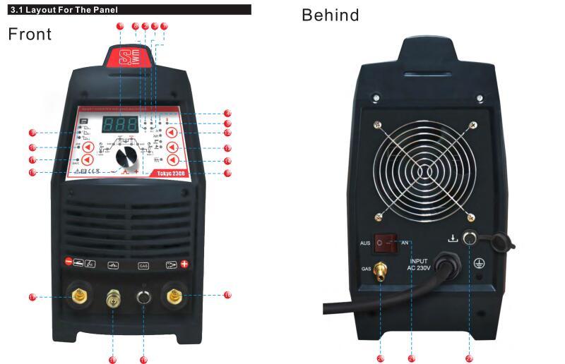 Equipo de soldadura 3 en 1 inversor TIG MMA Pulse DC 200A, inversor de electrodos, IGBT, digital, multifuncional