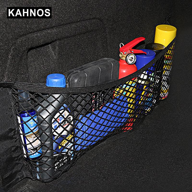 Mesh In Trunk Organizer Car Trunk Net Nylon SUV Auto Cargo Storage Mesh Organizer In Trunk For Cars Luggage Nets Travel Pocket