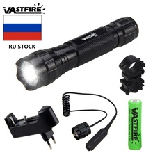 цена на 501B T6 1 mode White led Tactical Flashlight 18650 Battery Aluminum Torch Lamp for High Quality Hunting flashlight