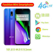 M16 متجر لعب صغير هواتف محمولة 32GB / 64GB ROM MT6739V/CWA رباعية النواة بصمة مقفلة 4G الهاتف الذكي أندرويد 8.1