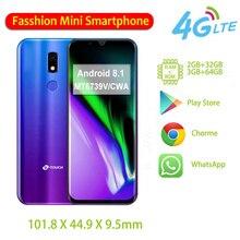 M16 Mini Play Storeโทรศัพท์มือถือ32GB/64GB ROM MT6739V/CWA Quad Coreลายนิ้วมือปลดล็อก4Gสมาร์ทโฟนAndroid 8.1