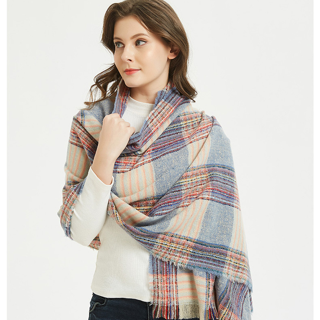 Hot 2019 New Spring Winter Scarf For Women Plaid Warm Cashmere Scarves Shawls Female Wraps Blanket Lady 919