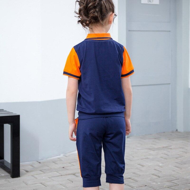 Kindergarten Suit Summer Wear Children School Uniform Primary School STUDENT'S Business Attire Summer Teacher Yellow Sports Set