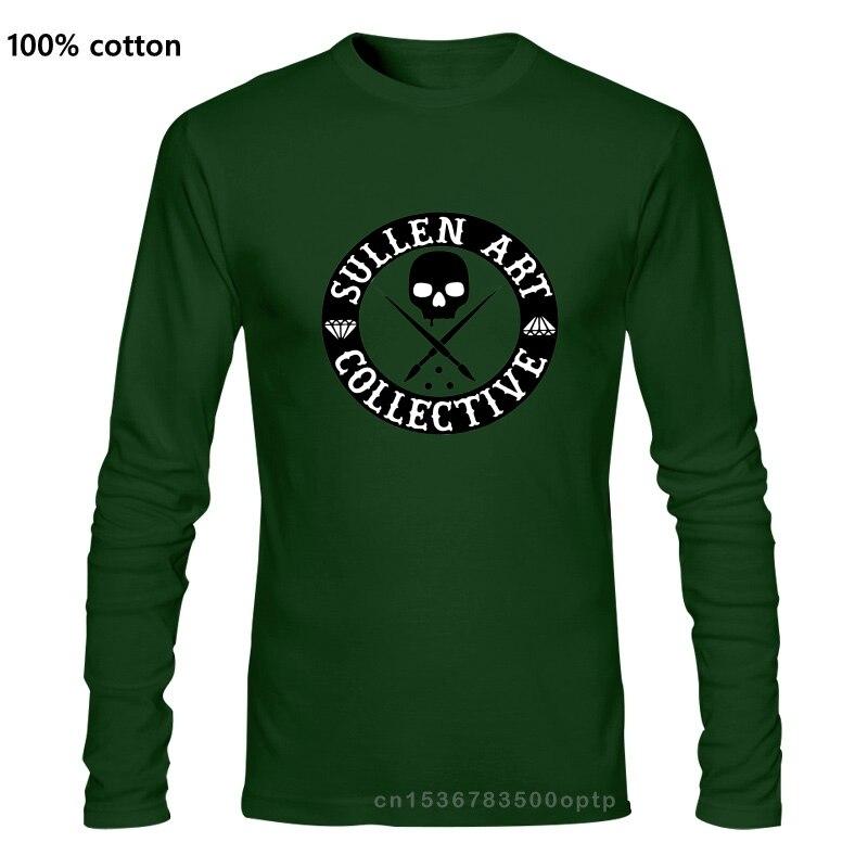 Суллен арт коллективный Красный Хип-хоп Череп Мужская крутая забавная футболка