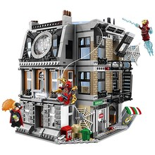 цена на Bela 10840 Marvel Avengers Infinity War Iron Man Sanctum Sanctorum Showdown Building Blocks Toys Compatible With Thanos 76108