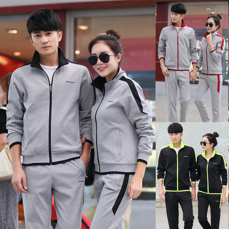 Autumn Clothing Couples Sports Clothing Set Long Sleeve Casual Sports Clothing Youth Outdoor Large Size Men And Women Coat Schoo