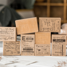 Wooden Stamps Stationery JIANWU Vintage Craft-Supplies Scrapbooking Standard for Daily-Record-Decoration