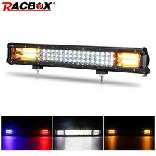 20 Inch Offroad LED Light Bar Amber White Combo Beam 12V 24V Spotlight LED Work Fog Light For Truck Tractor UAZ ATV SUV MPV 4X4