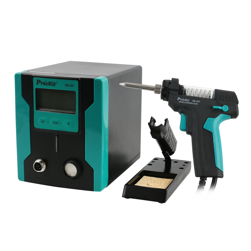 New Upgrade SS-331H ESD LCD Digital Desoldering Pump Electric BGA Desoldering Suction Gun Electric Vacuum Solder Sucker Gun