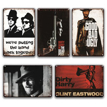 Clint плакат со сценами из фильмов металлический знак в стиле