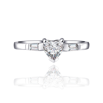 Genuine Heart Shaped Diamond Ring  1