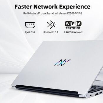 Machenike AMD Ryzen 5 4500U Laptop WiFi 6 Ultrabook R5 4500U 8G 3200MHz 512G SSD 15.6'' FHD Notebook Office Student Laptop 4