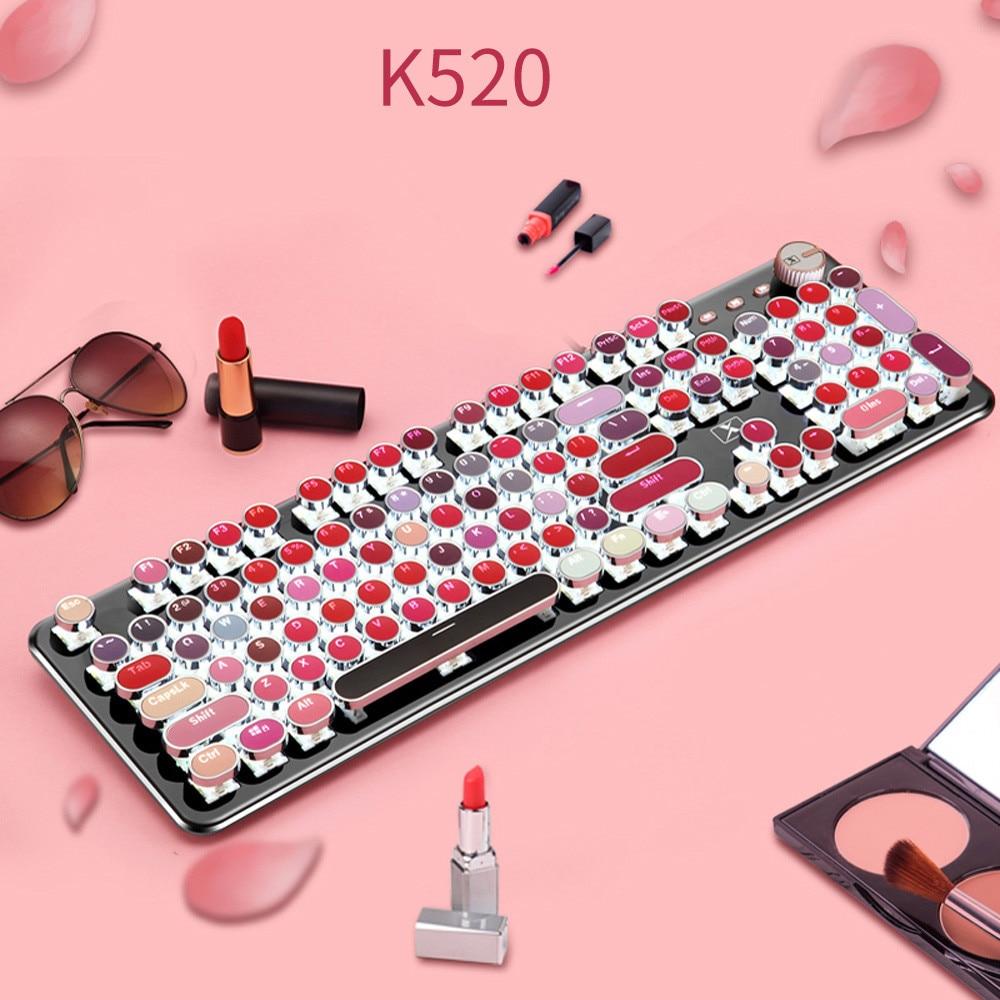 Wired 104 Keys Punk Usb Mechanical Metal Gamer Gaming Lipstick Keyboard Laptop gaming mouse игровая мышь wireless mouse#G20