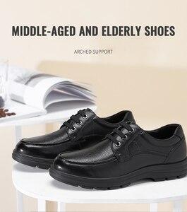 Image 3 - CAMEL chaussures pour hommes été en cuir hommes affaires décontracté grand cuir chevelu peau de vache ensembles papa chaussures anti dérapant élastique résistant chaussures hommes