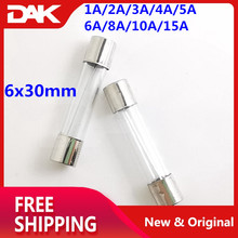 90PCS Kit 6x30mm Glass Fuse 250V Include Ampere : 1A/2A/3A/4A/5A/6A/8A/10A/15A Each 10 pieces