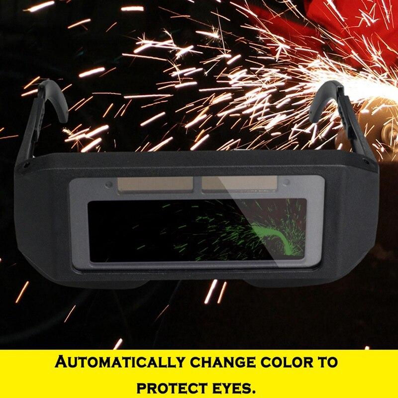 Novo-solar escurecimento automático lcd capacete de soldagem
