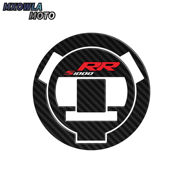 $ 9.09 Carbon Fiber motorcycle Sticker Fuel tank cap Decal For BMW S1000RR S1000R S1000 RR HP4