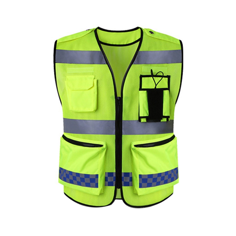 Riding Equipment Reflective Vest With Pockets High Visibility Breathable Safety Gear For Night Running Hiking Protector Tank Top