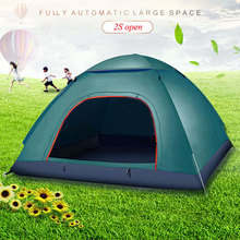 Automatic Pop Up Outdoor Family Camping Tent 3 Person Easy Open Tents Pyramid tent Hikiing Mountaineering folding