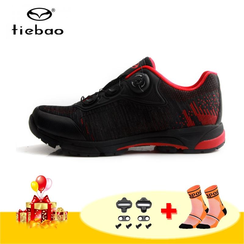 Tiebao מקצועי פנאי רכיבה על אופניים נעלי גברים לנשימה אופני הרי נעלי רכיבה מחזור אופניים טריאתלון מירוץ סניקרס-בנעלי רכיבה על אופניים מתוך ספורט ובידור באתר